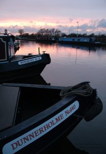 Sunset at Sawley Marina, UK