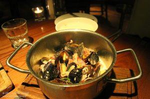 Steamed mussels, Nottingham, UK