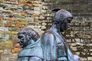 Friar Tuck and Little John, Nottingham, UK