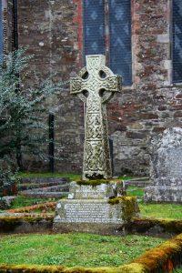 Celtic cross gravestone, Youghal, Ireland