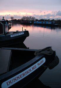 Sunset at Sawley Marina, UK